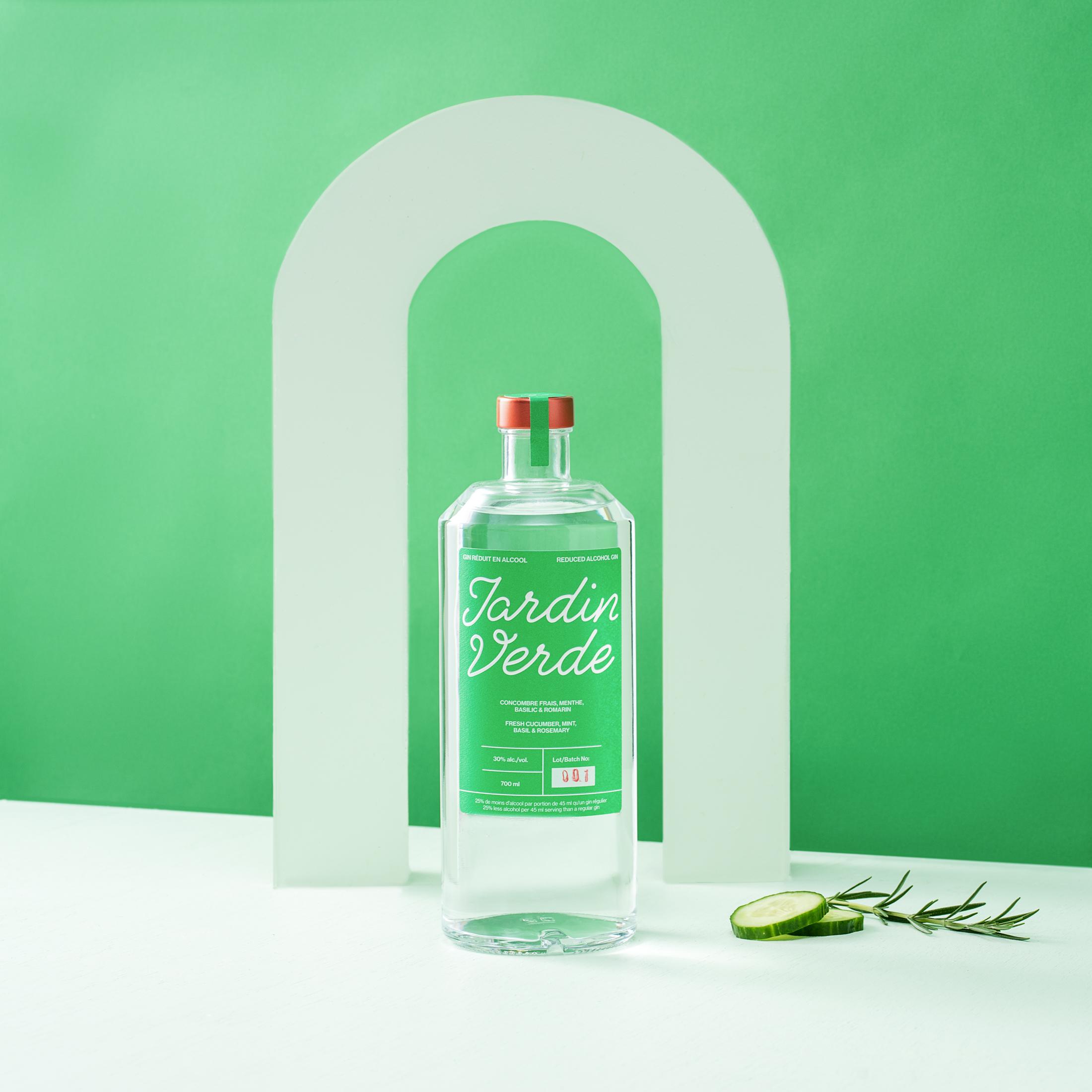 Jardin, verde, gin, distillerie, blue, pearl, distillery, québécois, local, alcool
